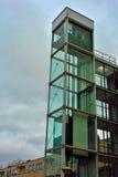 Architecture, glass elevator shaft Stock Image