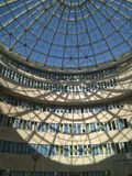 Architecture. Glass, roof, light, shadow stock photo