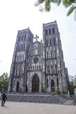 Architecture Gothic style of church the St. Joseph`s Cathedral in Hoan Kiem Hanoi, Vietnam Royalty Free Stock Images