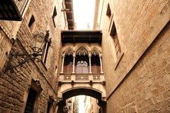 Architecture gothique à Barcelone Images libres de droits