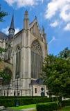 Architecture gothique - cathédrale, Belgique Images libres de droits
