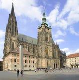 Architecture gothique de St Vitus Cathedral de Prague photo stock