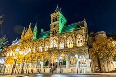 Architecture gothique du bâtiment de palais de corporations de Northampton, Angleterre Images libres de droits