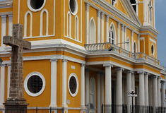 Architecture of Granada cathedral, Nicaragua. Stock Photography
