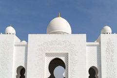 Architecture of Grand Mosque Abu Dhabi Stock Photos
