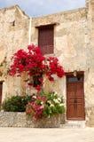 Architecture grecque traditionnelle Photographie stock