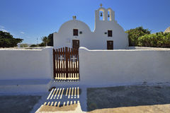 Architecture of Greece, Santorini, Oia Royalty Free Stock Photos
