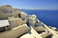 Architecture of Greece, Santorini, Oia, Royalty Free Stock Images