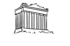Architecture greek building symbol on white background. Architecture greek building symbol white background retro black silhouette creating style famous flat stock illustration