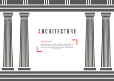 Architecture greek temple background Stock Photos