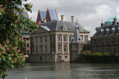 Architecture the Hague / architectuur Den Haag. The Mauritshuis and the Torentje, seen from de Hofvijver in the Hague, the Netherlands. The Mauritshuis is an art royalty free stock photography