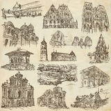 Architecture - An hand drawn, full sized, illustrations on paper Stock Photo