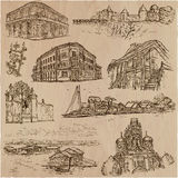 Architecture - an hand drawn vector pack Stock Photos