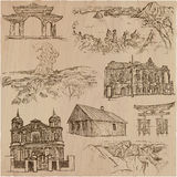 Architecture - an hand drawn vector pack Royalty Free Stock Photo
