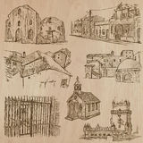 Architecture - hand drawn vector pack Royalty Free Stock Photos