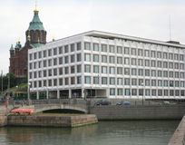 Architecture of Helsinki stock photo