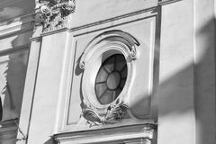 Architecture historic Details of the Church. Architecture historic Details of some buildings in Sankt -Petersburg Royalty Free Stock Photo