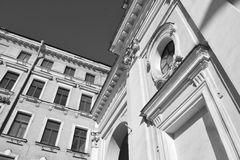 Architecture historic Details of the Church. Architecture historic Details of some buildings in Sankt -Petersburg Stock Photography