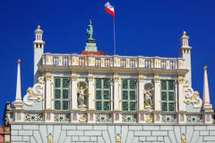 Architecture of historical Artus Court in Gdansk Stock Photos