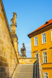 Architecture in historical center of Prague Stock Photography