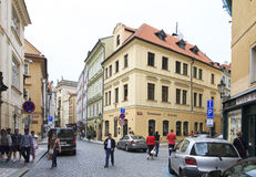 Architecture in historical centre of Prague. Royalty Free Stock Photos
