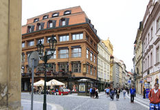 Architecture in historical centre of Prague. Stock Photos