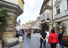 Architecture in historical centre of Prague. Royalty Free Stock Photography