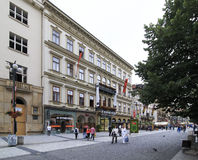 Architecture in historical centre of Prague. Stock Image