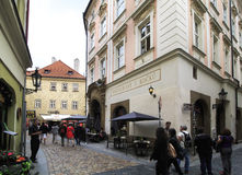 Architecture in historical centre of Prague. Royalty Free Stock Photo
