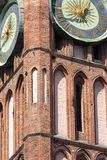 Architecture of historical city hall in Gdansk, Poland Stock Photos