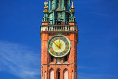 Architecture of historical city hall in Gdansk Royalty Free Stock Photography