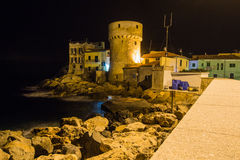 Architecture historique d'île de Giglio Photographie stock libre de droits