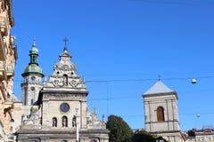 Architecture historique de l'église Photo stock