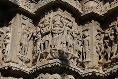 Architecture historique, pierre découpant au temple jagdish, udaipur, Ràjasthàn, Inde Photos stock