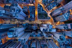 Architecture of Hong Kong stock image