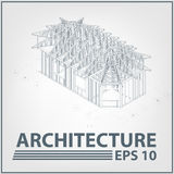 Architecture house project. vector illustration Royalty Free Stock Photos