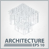 Architecture house project. vector illustration Stock Photos