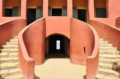 Architecture of the house of slaves , senegal. The House of Slaves (Maison des Esclaves) and its Door of No Return is a museum and memorial to the Atlantic Slave Royalty Free Stock Photography