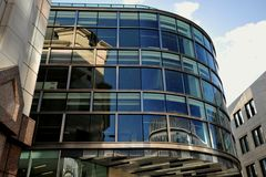 Architecture of Hsbc bank building in London Stock Photos