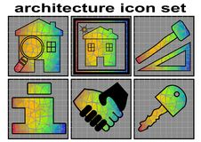 Architecture icon set Royalty Free Stock Photo