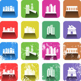 Architecture Icon Set Royalty Free Stock Photography