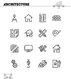 Architecture icon set Stock Photo