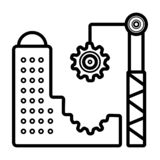 Architecture Icon vector royalty free illustration