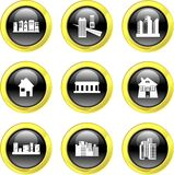 Architecture icons Royalty Free Stock Photography