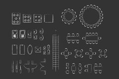 Architecture Icons For Plan Design Royalty Free Stock Photography