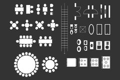 Architecture Icons For Plan Design Royalty Free Stock Image