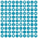 100 architecture icons sapphirine violet. 100 architecture icons set in sapphirine hexagon isolated vector illustration vector illustration