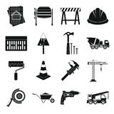 Architecture Icons set, simple style Royalty Free Stock Photography