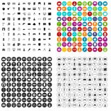 100 architecture icons set vector variant. 100 architecture icons set vector in 4 variant for any web design isolated on white Royalty Free Stock Photos