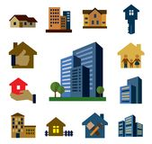 Architecture icons Royalty Free Stock Image